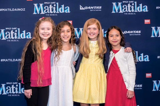 The four young actors who will share the role of Matilda for the Brisbane, Perth & Adelaide seasons - Photo by Darren Thomas