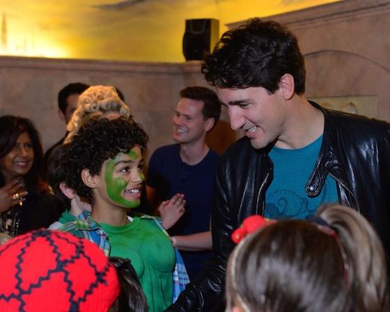 Prime Minister Justin Trudeau at MATILDA THE MUSICAL, at Toronto's Ed Mirvish Theatre. Photo: Tom Sandler