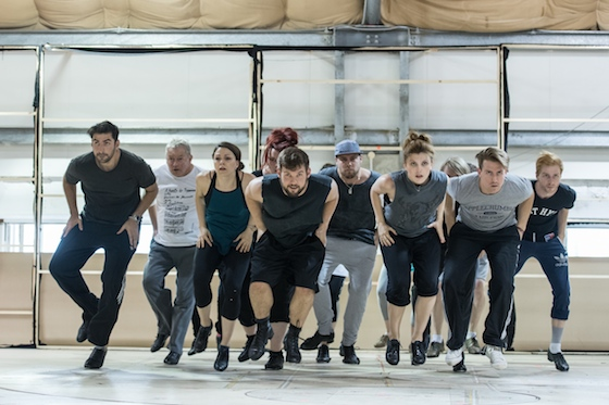 The Groundhog Day company in rehearsals