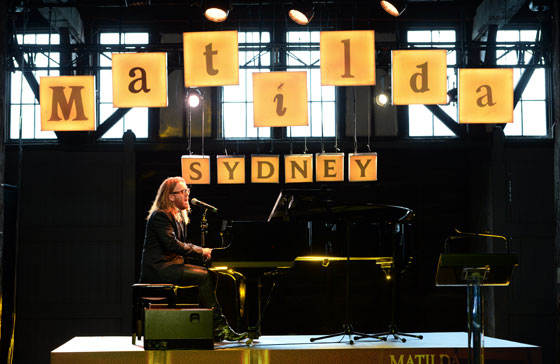 Performing at the Sydney Media Launch, October 2014 - Photo by James Morgan