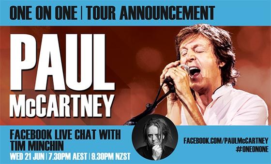 Paul McCartney/Tim FB Live