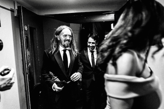 Tim & Lin-Manuel Miranda backstage Photo by Matt Humphrey (@31thirtyone)