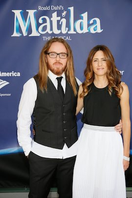 Tim and Sarah Minchin arrive for the opening night performance at the Ahmanson Theatre on June 7, 2015, in Los Angeles. (Photo by Ryan Miller/Capture Imaging)
