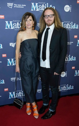 Tim and Sarah Minchin on the red carpet