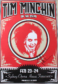 On The Steps - signed poster